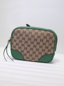 GG original canvas supreme mini shoulder bag 387360 green