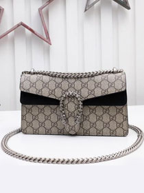 GG original canvas dionysus small shoulder bag 499623 black