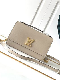 Louis vuitton original calfskin lockme clutch M56087 grey