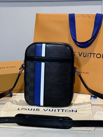 Louis vuitton original epi leather danube slim city bag M51459 black&blue