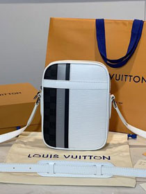 Louis vuitton original epi leather danube slim city bag M51459 white