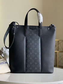Louis vuitton original monogram&taiga leather outdoor tote M30431 black