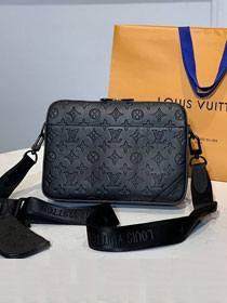 Louis vuitton original monogram calfskin messenger bag M69827 black