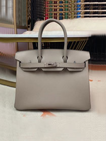 Hermes original epsom leather birkin 30 bag H30-3 gris asphalte