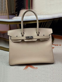 Hermes original epsom leather birkin 30 bag H30-3 gris tourterelle