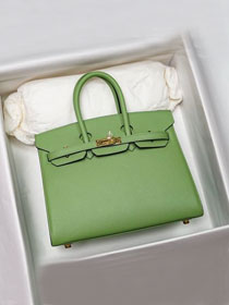 Hermes original epsom leather birkin 30 bag H30-3 vert criquet