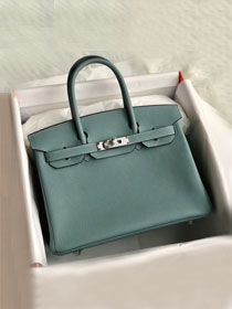 Hermes original togo leather birkin 30 bag H30-1 azure