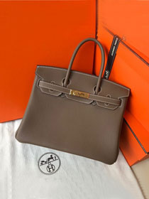 Hermes original togo leather birkin 30 bag H30-1 etoupe grey