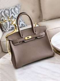 Hermes original togo leather birkin 30 bag H30-1 gris asphalte