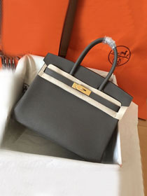 Hermes original togo leather birkin 30 bag H30-1 gris etain