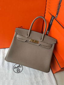 Hermes original togo leather birkin 30 bag H30-1 gris tourterelle
