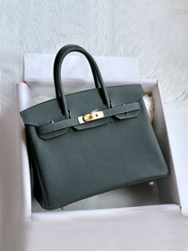 Hermes original togo leather birkin 30 bag H30-1 vert amande