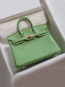 Hermes original togo leather birkin 30 bag H30-1 vert criquet