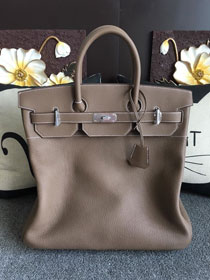Hermes original togo leather hac birkin 40 bag HB0023 grey