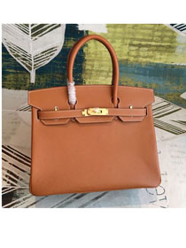 Hermes original epsom leather birkin 30 bag H30-3 earth yellow