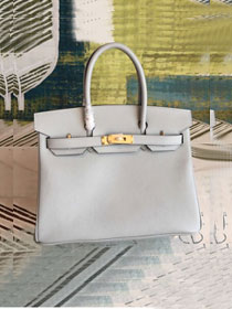 Hermes original epsom leather birkin 30 bag H30-3 pearlash
