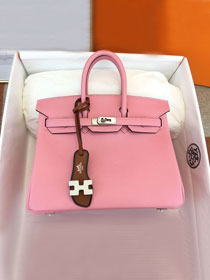 Hermes original epsom leather birkin 30 bag H30-3 rose confetti