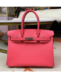 Hermes original epsom leather birkin 30 bag H30-3 rose lipstick