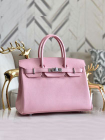 Hermes original epsom leather birkin 30 bag H30-3 3Q rose sakura