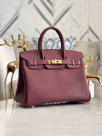 Hermes original epsom leather birkin 30 bag H30-3 bordeaux