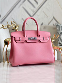 Hermes original epsom leather birkin 30 bag H30-3 cherry pink