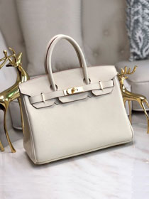Hermes original epsom leather birkin 30 bag H30-3 cream white