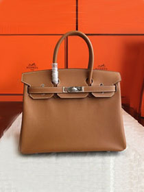 Hermes original epsom leather birkin 30 bag H30-3 gold brown