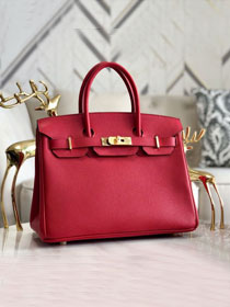 Hermes original epsom leather birkin 30 bag H30-3 rouge tomate