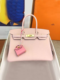 Hermes original togo leather birkin 30 bag H30-1 3Q rose sakura