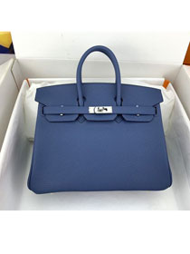 Hermes original togo leather birkin 30 bag H30-1 agate blue
