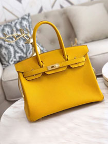 Hermes original togo leather birkin 30 bag H30-1 amber