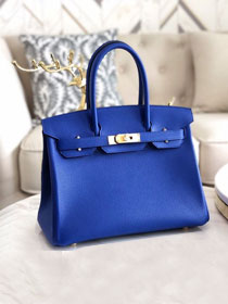 Hermes original togo leather birkin 30 bag H30-1 electric blue