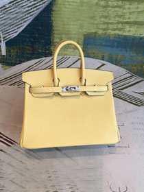 Hermes original togo leather birkin 30 bag H30-1 jaune poussin