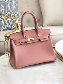 Hermes original togo leather birkin 30 bag H30-1 lotus root pink
