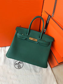 Hermes original togo leather birkin 30 bag H30-1 peacock green
