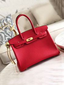 Hermes original togo leather birkin 30 bag H30-1 rouge tomate
