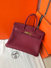 Hermes original togo leather birkin 30 bag H30-1 rubis