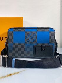 Louis vuitton original damier graphite alpha messenger N40408 blue