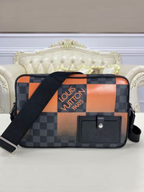 Louis vuitton original damier graphite alpha messenger N40421 orange