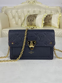 Louis vuitton original monogram calfskin vavin chain wallet M67839 navy blue