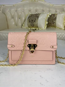 Louis vuitton original monogram calfskin vavin chain wallet M67839 pink