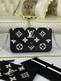 Louis vuitton original monogram calfskin felicie pochette M69978 black