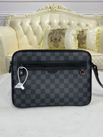 Louis vuitton original damier graphite clutch N44488