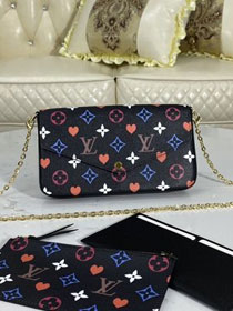 Louis vuitton original game on monogram canvas felicie pochette M80232 black