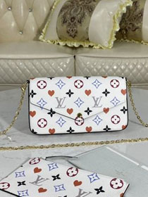 Louis vuitton original game on monogram canvas felicie pochette M80233 white