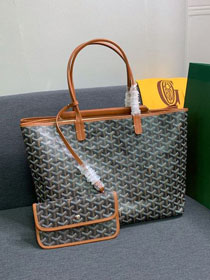 Goyard canvas isabelle tote pm bag GY0025 black&brown