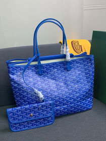 Goyard canvas isabelle tote pm bag GY0025 blue