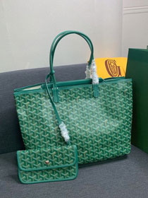 Goyard canvas isabelle tote pm bag GY0025 green