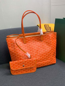 Goyard canvas isabelle tote pm bag GY0025 orange