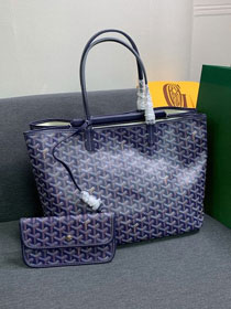 Goyard canvas isabelle tote pm bag GY0025 royal blue